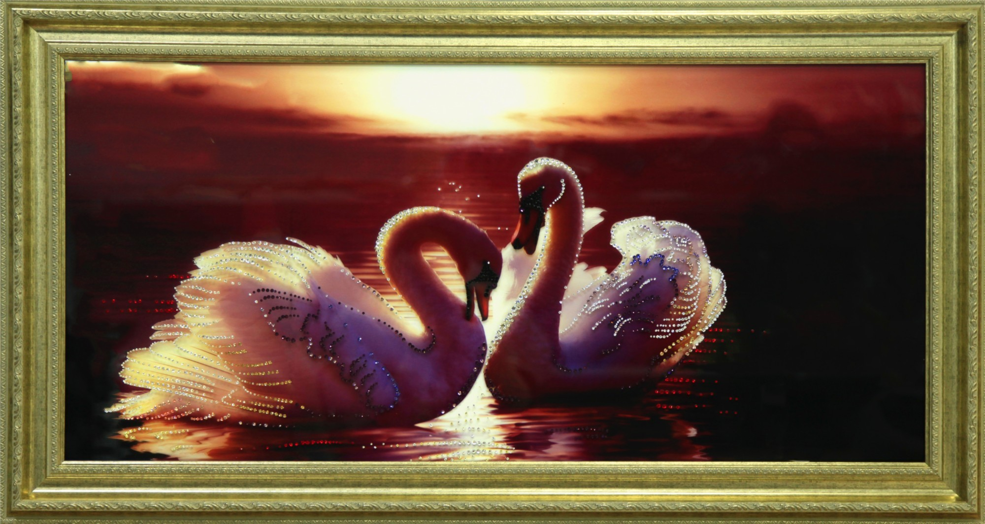 Картина Swarovski Багряный закат