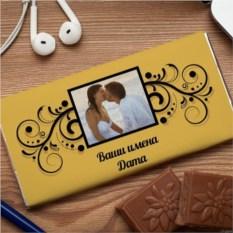 Шоколадная открытка Вензель