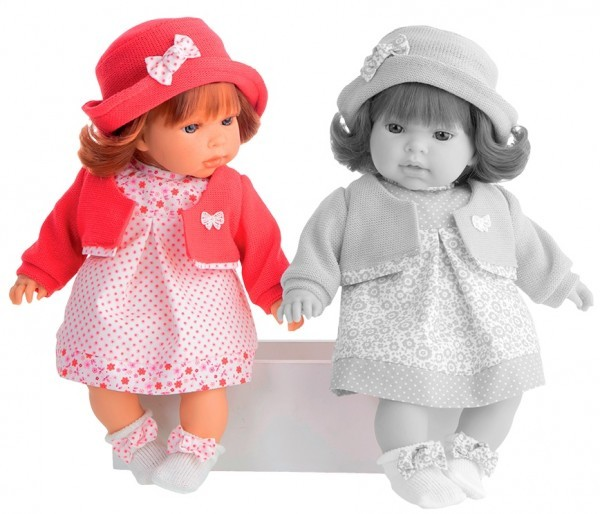 Озвученная кукла-малыш Памела в красном