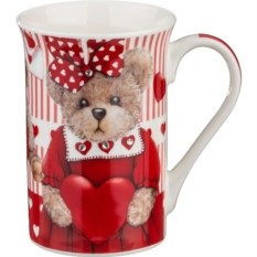 Кружка Медведица с сердечком, объем 300 мл