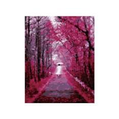 Картины по номерам «Девушка в розовом саду»
