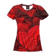 Женская футболка Сердца любви
