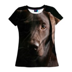 Женская 3D-футболка Лабрадор