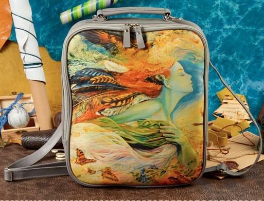 Рюкзак из натуральной кожи Mahaon «Создание лета»