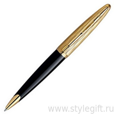 Шариковая ручка Waterman Carene DeLuxe Essential Black GT