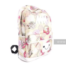Женский рюкзак Jingpin (цвет: бежевый с узором)