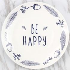Оригинальная тарелка Be happy
