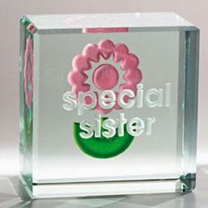 Стеклянная табличка «Сестре»