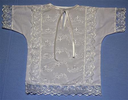 Рубашка крестильная из батиста Одуванчик