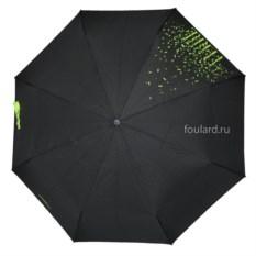 Черный зонт с зелеными каплями Ferre Milano