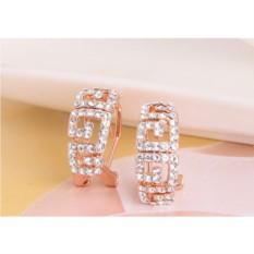 Серьги с австрийскими кристаллами «Греческие мотивы»