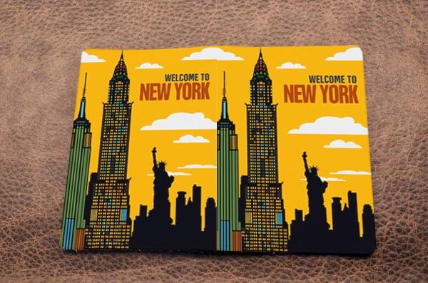 Горизонтальный кардхолдер Welcome to New York