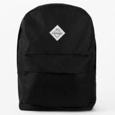 Черный городской рюкзак Сердце