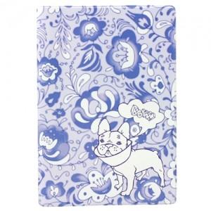 Обложка для паспорта Гжель