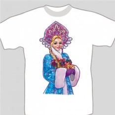 Подарочная футболка «Снегурочка»