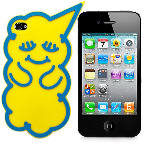 Чехол для iPhone 4/4S Yellow Bear