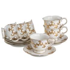 Чайный набор София золотая, белый с золотом