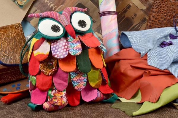 Текстильный рюкзачок Сова