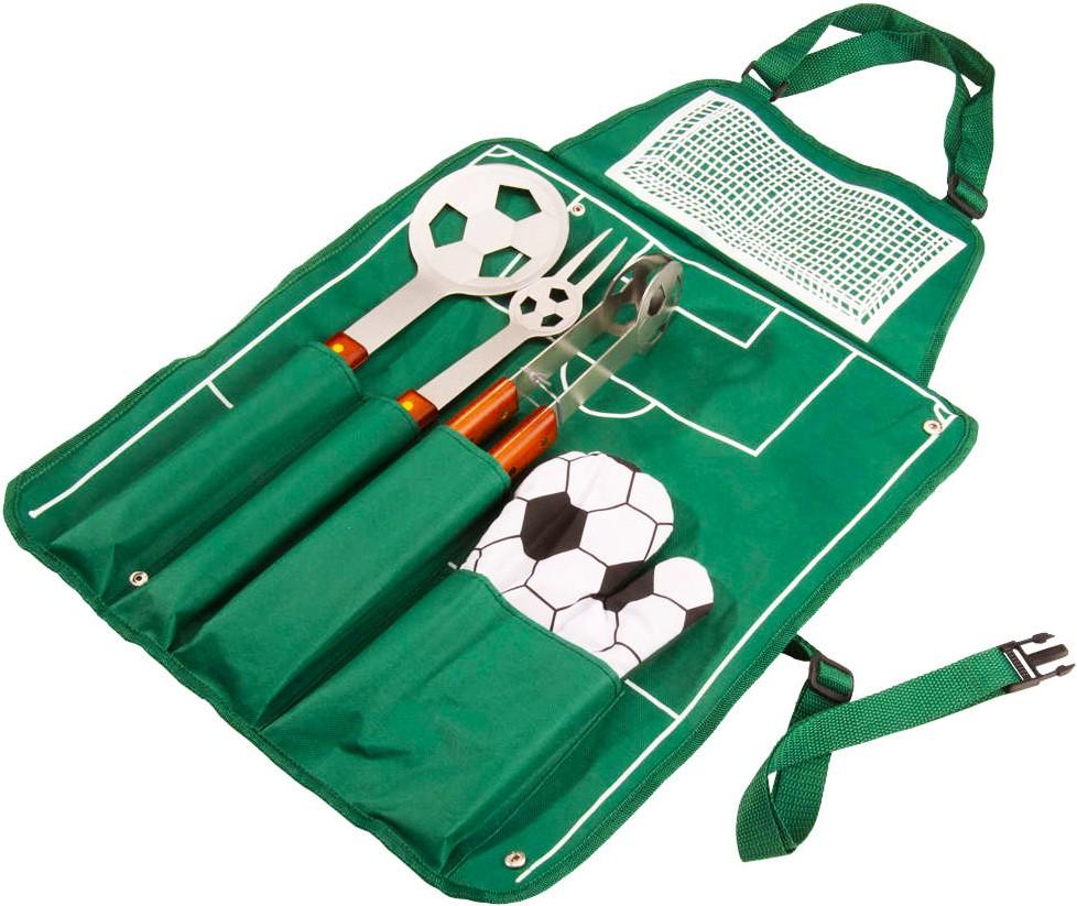 Набор-фартук для барбекю «Футбол», зеленый