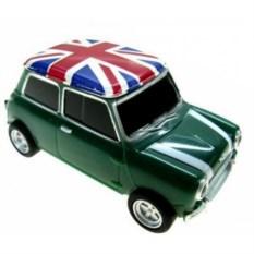 Флешка Автомобиль Мини Купер зеленого цвета