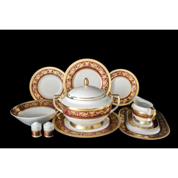 Столовый сервиз на 6 персон Imperial Bordeaux Gold