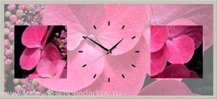 Настенные часы из песка Чайная роза