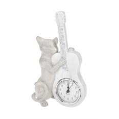 Настольные часы Котик музыкант