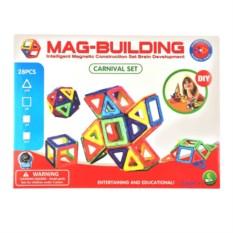 28 деталей магнитного конструктора Mag Building