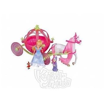 Кукла Принцесса Золушка с каретой (мини)