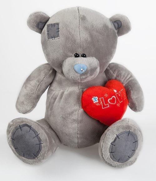 Игрушка мягкая Медведь с заплатками и сердцем