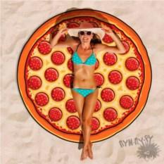 Круглое пляжное полотенце Пицца