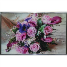 Картина с кристаллами Swarovski Розовые розы