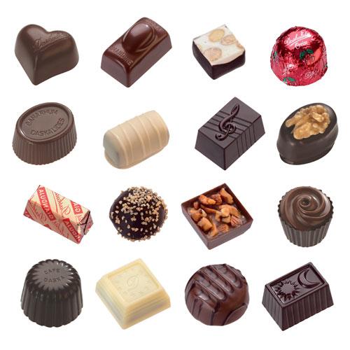 Шоколадные конфеты с начинкой из пралине