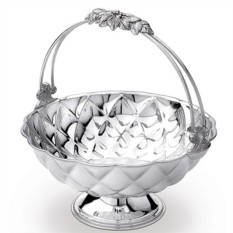 Вазочка для фруктов GOAL Chinelli в цвет серебра