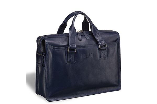 Деловая синяя сумка для документов Nelson
