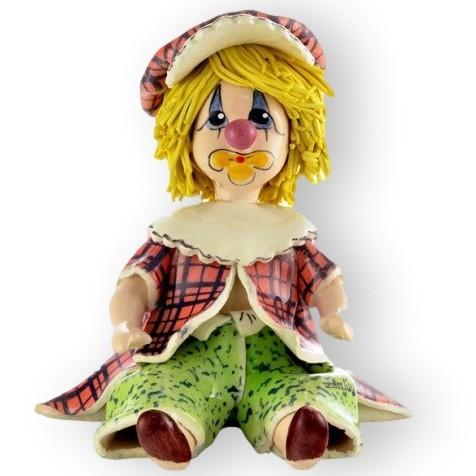 Фигурка из фарфора Маленький клоун в берете