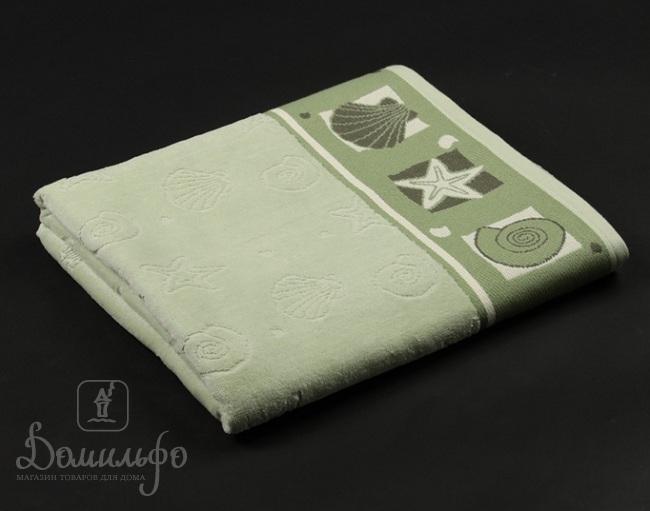 Полотенце Таск Шелл, зеленое, 70х140