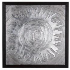 Настенное панно «Серебряное солнце»