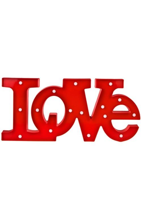 Декоративное светящееся украшение Любовь