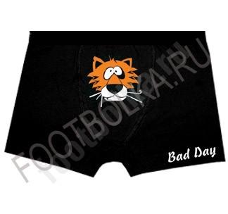 Мужские трусы с тигром Bad Day
