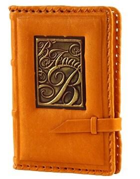 Записная книжка, средняя (оранжевая)