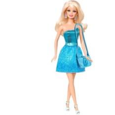 Кукла Барби Блестящая Студия (голубое платье)