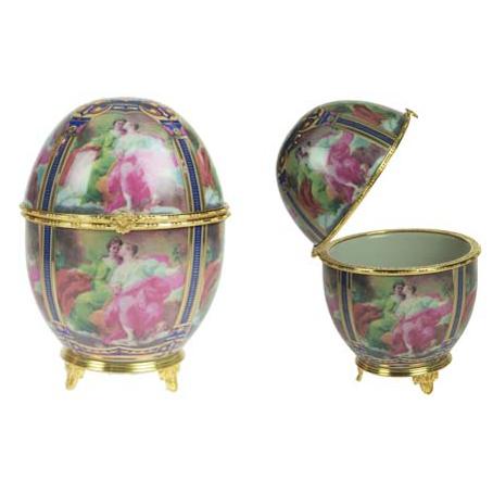 Шкатулка фарфоровая «Яйцо» 14 см