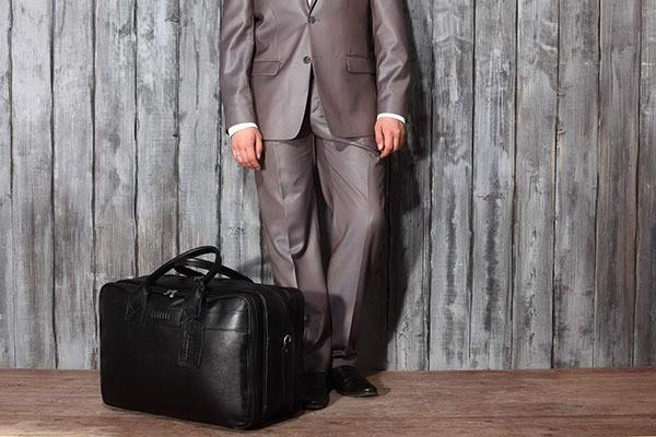 Дорожная черная сумка с портпледом Brialdi Lancaster