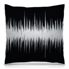 Подушка с полной запечаткой Черно-белый узор
