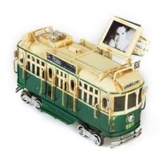 Модель Ретро-трамвай с фоторамкой (цвет — зеленый)