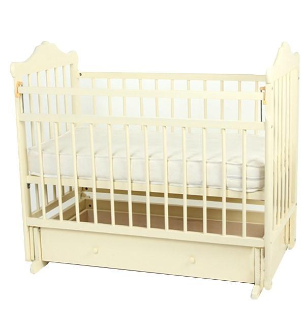 Кровать-маятник Любаша № 8 Кедр, цвет: белый
