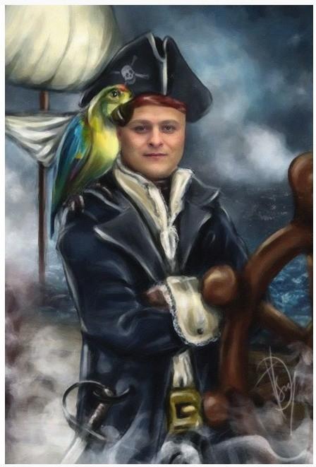 Фотомонтаж Пират