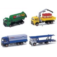 Машинка Welly Модель грузовика в ассортименте, 4 вида