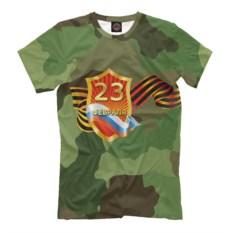 Мужская футболка в стиле милитари Защитник отечества